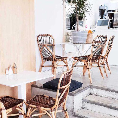 Detalle de la Cafetería Harina en Augusto Figueroa