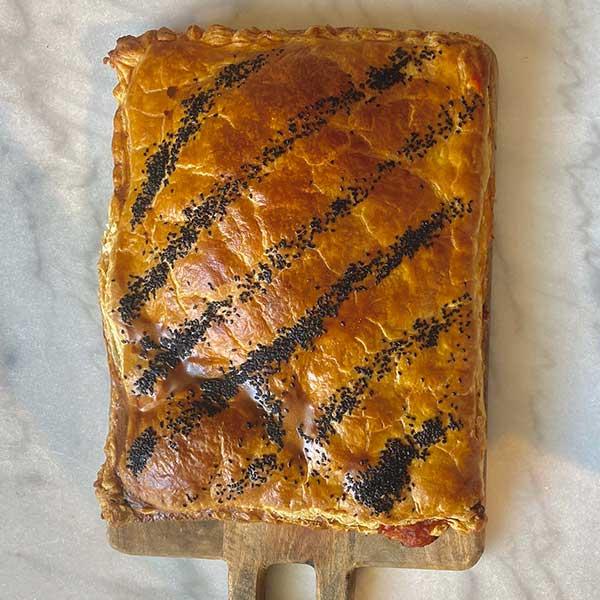 Empanada de atún y pisto Harina