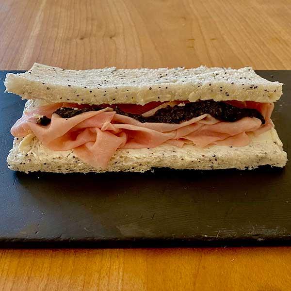 Sándwich de jamón y trufa Harina