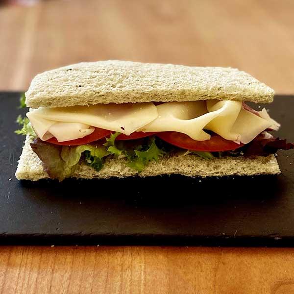 Sándwich vegetal Harina