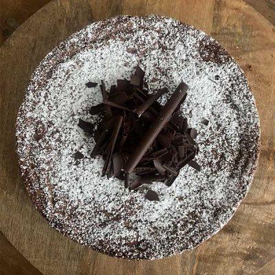 Tarta de chocolate y harina de almendra Harina